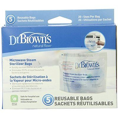 Dr. Home & Kitchen Features Brown's Microwave Steam Sterilizer Bags, Count (Pack