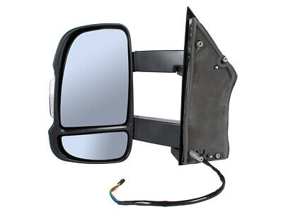 Fiat Ducato 06- Citroen Jumper Peugeot Boxer Mirror Wing Electric Left Long Arm