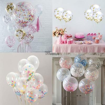 Clear Big Latex Balloon Confetti Sequins Filled Wedding Party Decor 12 Inch WP