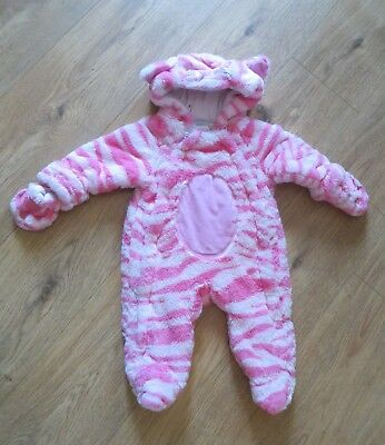 Pink Cat Bagpuss Snowsuit - Totally Cute and Cosy - 6-9 months Great Condition