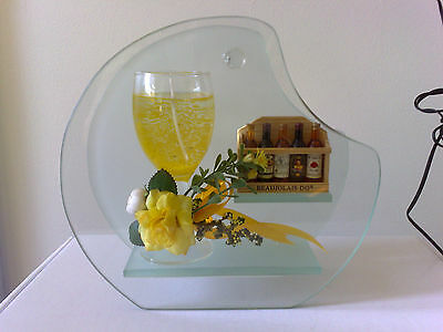 Wine Glass Candle Holder with Gel Jelly Wax-miniature alcohol display bottles