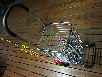 Shopping Cart Carts Trolley Aluminium Foldable Luggage Wheels Folding Basket -Br