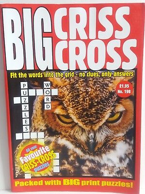 Crisscross Big  Crisscross Puzzle Book Issue No.198 P&p Incl. New