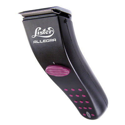 Lister ALLEGRA Quiet Cordless Trimmers/ Clippers Snap-On-Blades Black/Purple