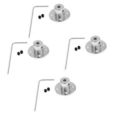 4 Set of 6mm Rigid Flange Coupling Guide Shaft Axis Coupler Motor Connector