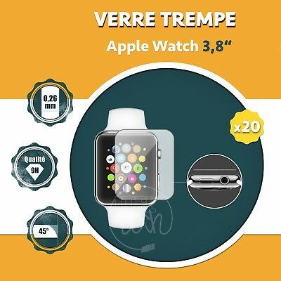 LOT X1 À X20: ViTRE PROTECTION VERRE TREMPÉ PROTECTEUR ÉCRAN APPLE WATCH 3.8""