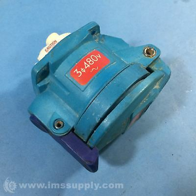 Meltric 63-34043-972 30A 480V 10HP DSN30 Receptacle USIP