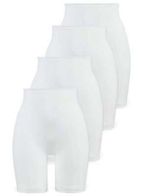 Pack of 4 Women's Cotton Long Leg Panties Knickers 2204 Naturana M-6XL White