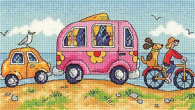 Heritage Crafts By The Sea Are We There Yet? Counted Cross Stitch Kit