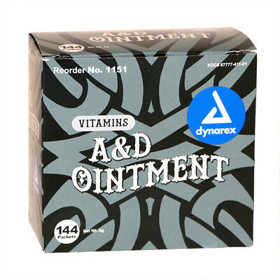 Vitamin A&D Ointment foil sachet TATTOO Aftercare + Medical + Nappy Rash