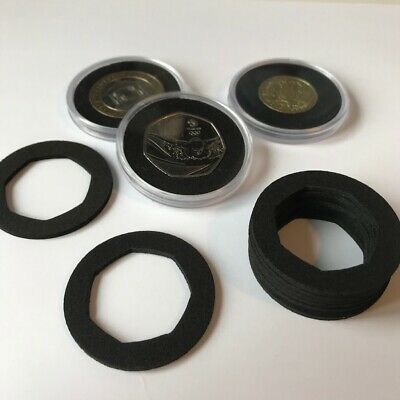 Coin Capsule Inserts x 10 to fit 40mm Capsules, all coin sizes - £2, £1, 50p