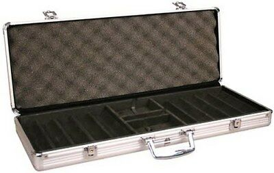 Casino Poker Chip Capacity Carrier Aluminum Hard Side Chips Case 1000 Count GIFT