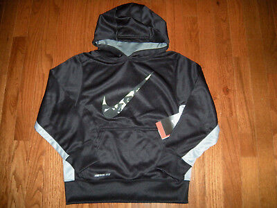 Youth Boys' NIKE Black/Grey Therma-Fit Hoodie size Small (NWT)