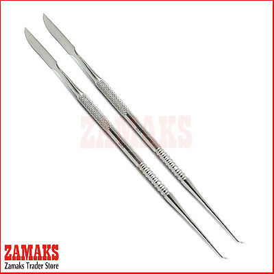 Set Of 2 Lecron Carver Modelling Laboratory Waxing Sculpting Dental Instruments