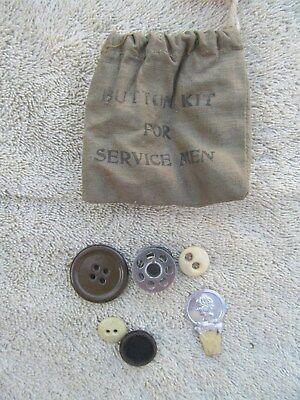 Army Military Button Kit For Service Men Marine Button Kit Vintage With Buttons