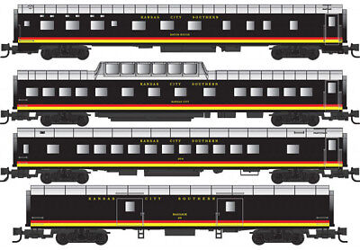 Micro-Trains MTL Z-Scale Passenger Cars Kansas City Southern/KCS - Runner 4-Pack