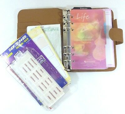 Day Planner 6 Ring Binder Organizer Ruler Expense Stickers Notes To-Do Card Hold
