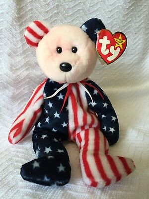 """TY Beanie Baby """"1999 Spangle Pink Face"""" Rare with Tag Errors"""