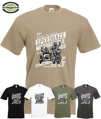 T Shirt Speedrace Motorcycle, Cafe Racer, Gespann, Biker, Old School, Scrampler