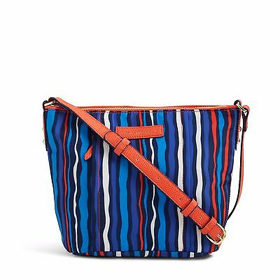Vera Bradley Preppy Poly Crossbody Bag Cobalt Stripe NWT FreeShppg