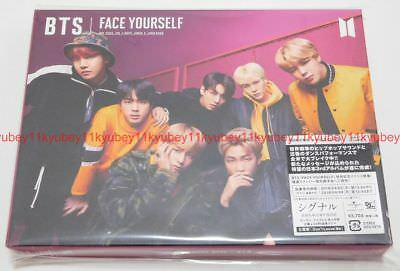 New BTS FACE YOURSELF First Limited Edition Type B CD DVD Booklet Sticker Japan