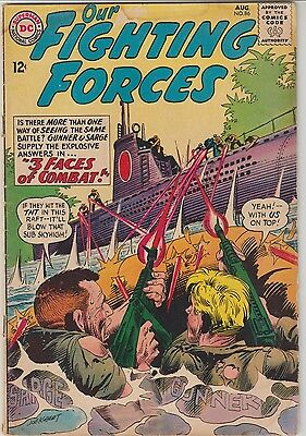 Our Fighting Forces # 86 Kubert Cover 1964 Silver Age