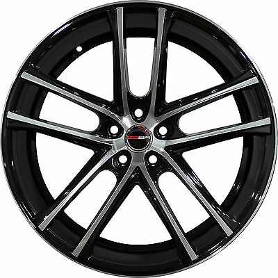 4 Gwg Wheels 20 Inch Black Machined Zero Rims Fits Jaguar S Type