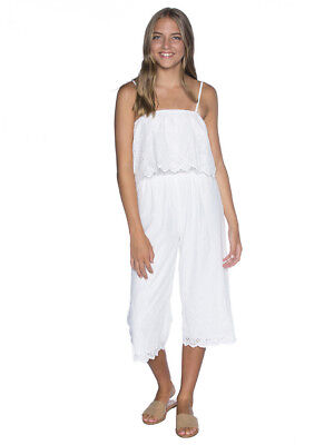Mooloola Girls Lilly Jumpsuit in White