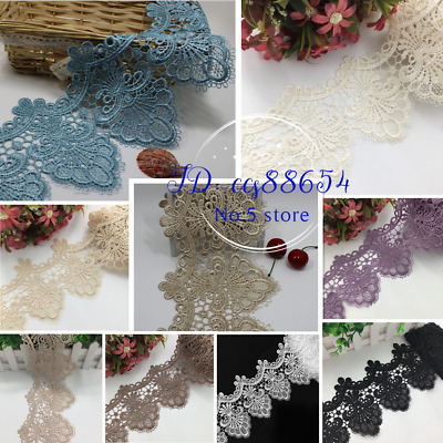 1 Yard Polyester Lace Trim Ribbon Crochet Applique Embroidered Sewing Craft A81