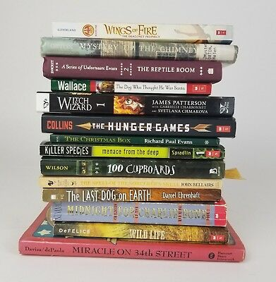 Lot of 14 Childrens Chapter Books Patterson Hunger Games Series of Unfortunate