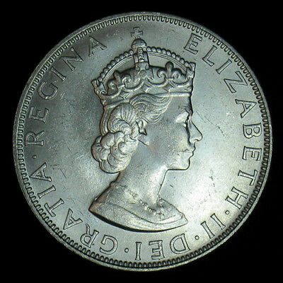 1964 Bermuda Crown KM# 14 Large Silver Coin Uncirculated