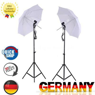 Foto-Studio-Beleuchtung Kit Set Light Stand +Soft Light Umbrella +GlüHlampe M7M8