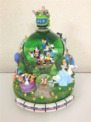 Disney All Star Monorail Snow Globe Alice Beauty & the Beast Aladdin Toy Story