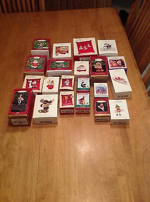 Lot of 21 Hallmark Ornaments With Boxes Years 1997 - 2000