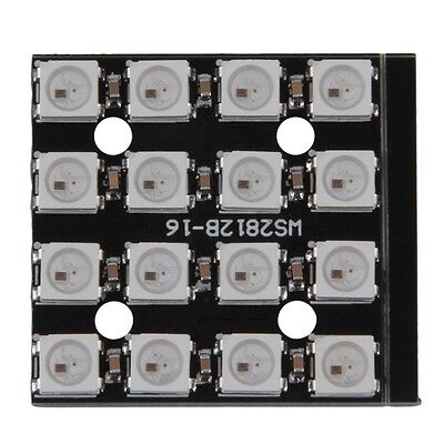 WS2812B 4*4 16-Bit 5050 RGB LED Lamp Panel Light For Arduino PXce