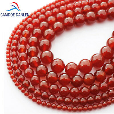 AAA Natural Red Agate Gemstone Carnelian Round Loose Beads 4-16MM Onyx