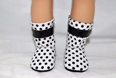 """American Girl Doll Our Generation Journey 18"""" Doll Clothes Black Spotted Boots"""