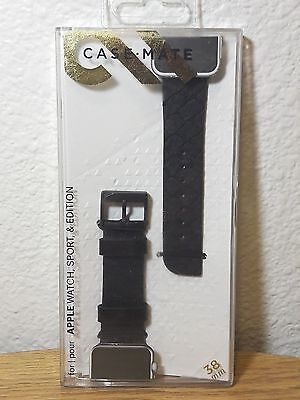 Case-Mate Scaled Smartwatch Band for Apple Watch 38mm Black