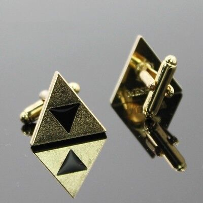 The Legend of Zelda Triforce Shield Cufflinks Shirt Cuff Links Cuff