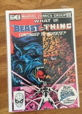 What If? #38 Beast and the Thing continue to mutate? Silver Surfer (Marvel)
