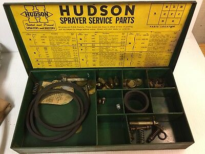 Vintage Display Hudson Sprayer Service Parts Box with NEW parts inside
