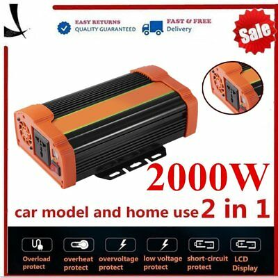 Electronic Accessories Parts & Accessories 4000w Peak Modified Sine Wave Power Inverter Dc 12v To Ac 220v Car Caravannc Special Buy