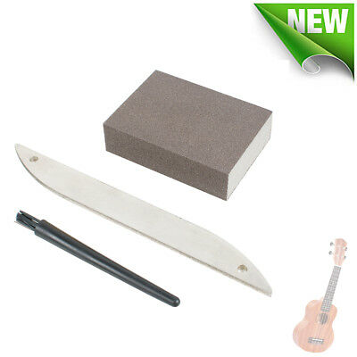 Offset Diamond Fret File Guitar Fret Crowning Luthiers Cleaning Tool Set Supply