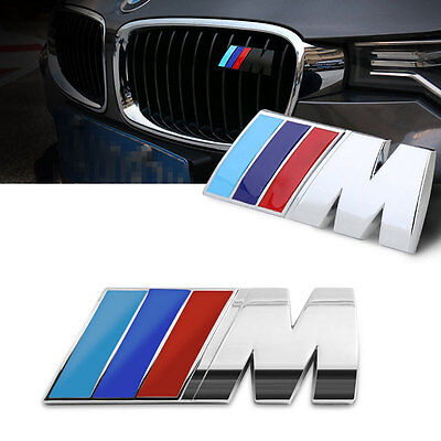 Chrome Metal Power Car Front Grill Badge Logo EMBLEM Sticker for BMW M3 X5 E46