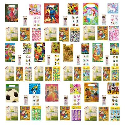 Children's Pre Filled Party Bags for Kids Boys Girls Birthday Loot Goody Favours