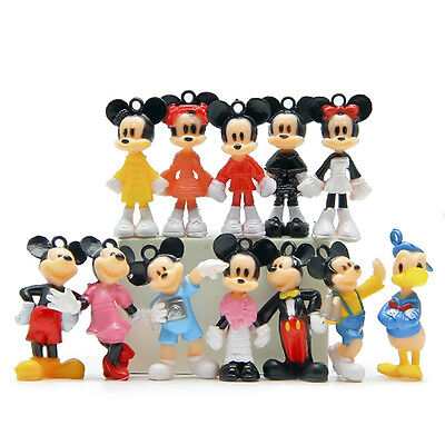 12pcs Disney Mickey Minnie Mouse Donald Mini Figures Clubhouse Toy Display 3CM
