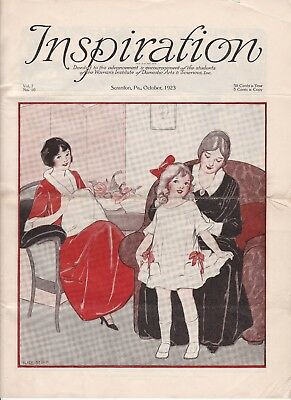 October 1923 Inspiration Magazine Woman's Institute Vintage Fashion Millinery