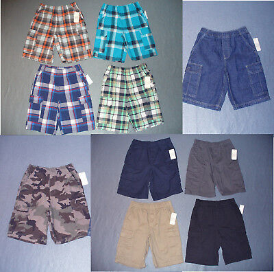 NWT Boy's Pull on Cargo Shorts - U Pick Size and Color - Reg + Husky