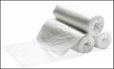 100 - 24x33 Trash Can Liner 10-15 Gallon Garbage Bag Natural Clear Star Seal 13