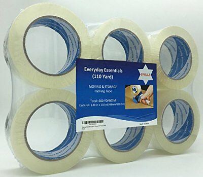 Heavy Duty Scotch Moving Storage Packing Tape 6Rolls Long Shipping Packaging NEW